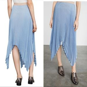 Women's Blue Bcbg Rumi Asymmetric Pleated Skirt